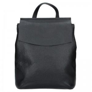 Dámský kožený batoh Facebag Stella - černá