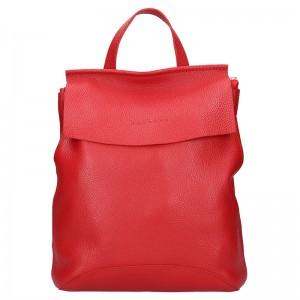 Dámský kožený batoh Facebag Stella - červená