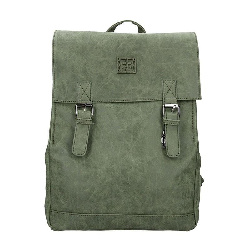 Moderní dámský batoh Enrico Benetti Vilma - tmavě zelená