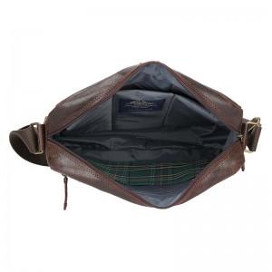 Pánská kožená taška Daag Malcolm - tmavě hnědá
