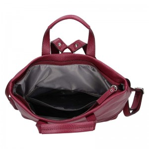 Dámská kožená batůžko-kabelka Marcela - vínová