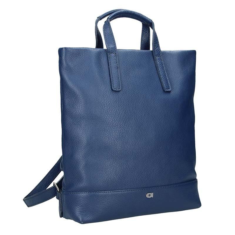 Dámská kožená batůžko-kabelka Daag Marcela - modrá