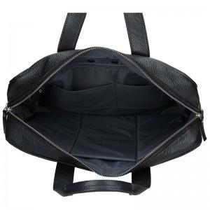Luxusní pánská kožená taška Daag Roma - černá