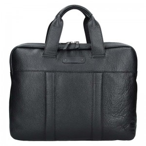 Luxusní pánská kožená taška Daag Proven - černá