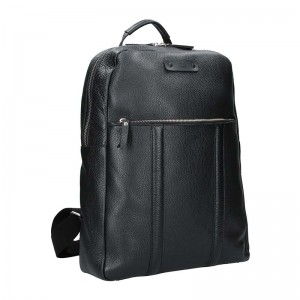 Pánský kožený batoh Daag Boston - černá