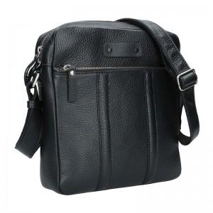 Pánská kožená taška Daag Agrel - černá