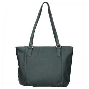 Elegantní dámská kožená kabelka Katana Apolen - tmavě zelená