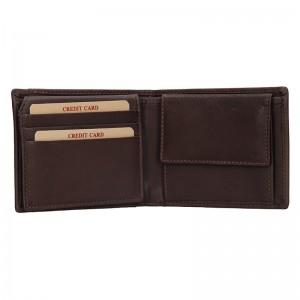 Pánská kožená peněženka Lagen Radoslav - hnědá