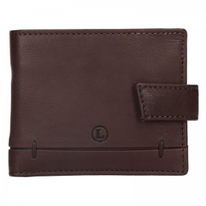 Pánská kožená peněženka Lagen Břetislav - hnědá