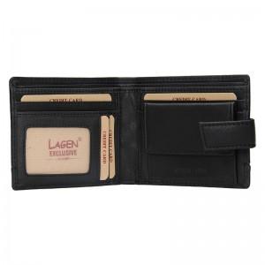 Pánská kožená peněženka Lagen Břetislav - černá