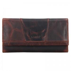 Dámská kožená peněženka Lagen Anna - hnědá