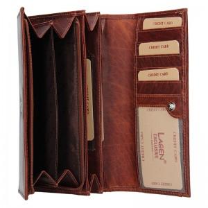 Dámská kožená peněženka Lagen Anna - koňak