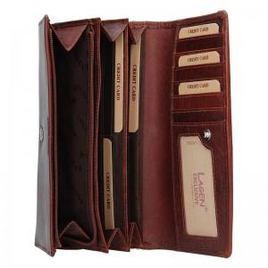 Dámská kožená peněženka Lagen Amanda - koňak