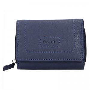 Dámská kožená peněženka Lagen Malva - modrá