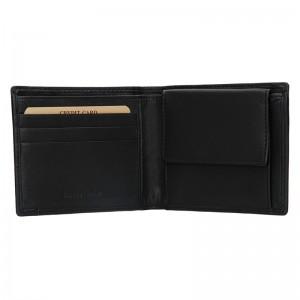 Pánská kožená peněženka Lagen Olha - černá