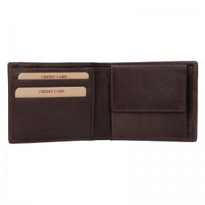 Pánská kožená slim peněženka Lagen Olha - tmavě hnědá