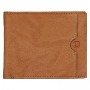 Pánská kožená slim peněženka Lagen Olha - světle hnědá