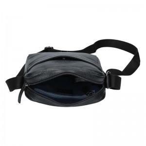 Pánská kožená taška přes rameno Bugatti Robin - černá