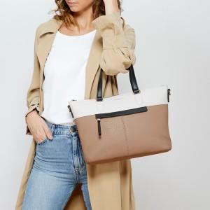 Dámská kabelka Fiorelli Olivia - hnědo-černo-bílá