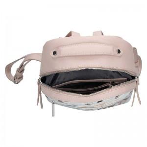 Dámský batoh Fiorelli Alberta - růžovo - bílá