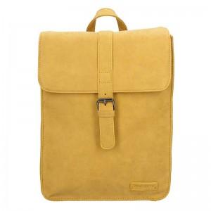 Moderní dámský batoh Enrico Benetti Silva - žlutá