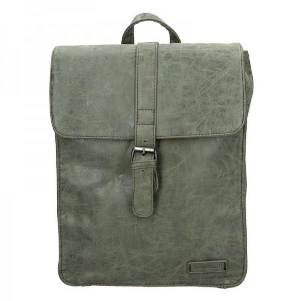 Moderní dámský batoh Enrico Benetti Silva - olivová