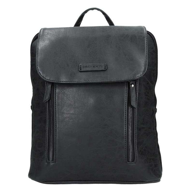 Moderní dámský batoh Enrico Benetti Tinna - černá