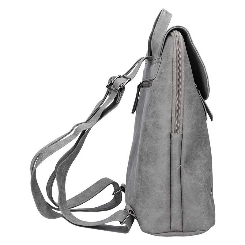 Moderní dámský batoh Enrico Benetti Tinna - šedá