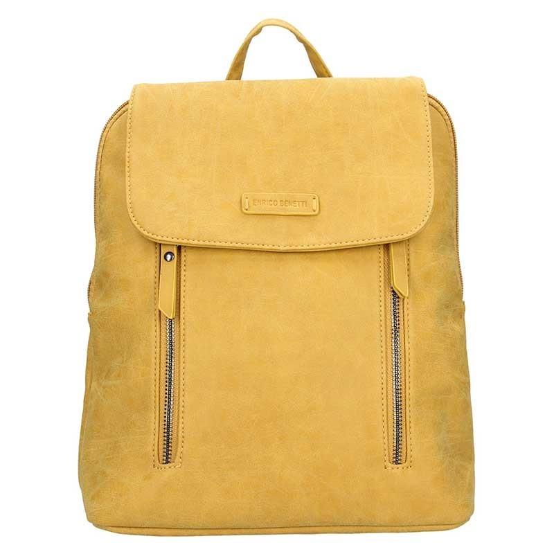 Moderní dámský batoh Enrico Benetti Tinna - žlutá