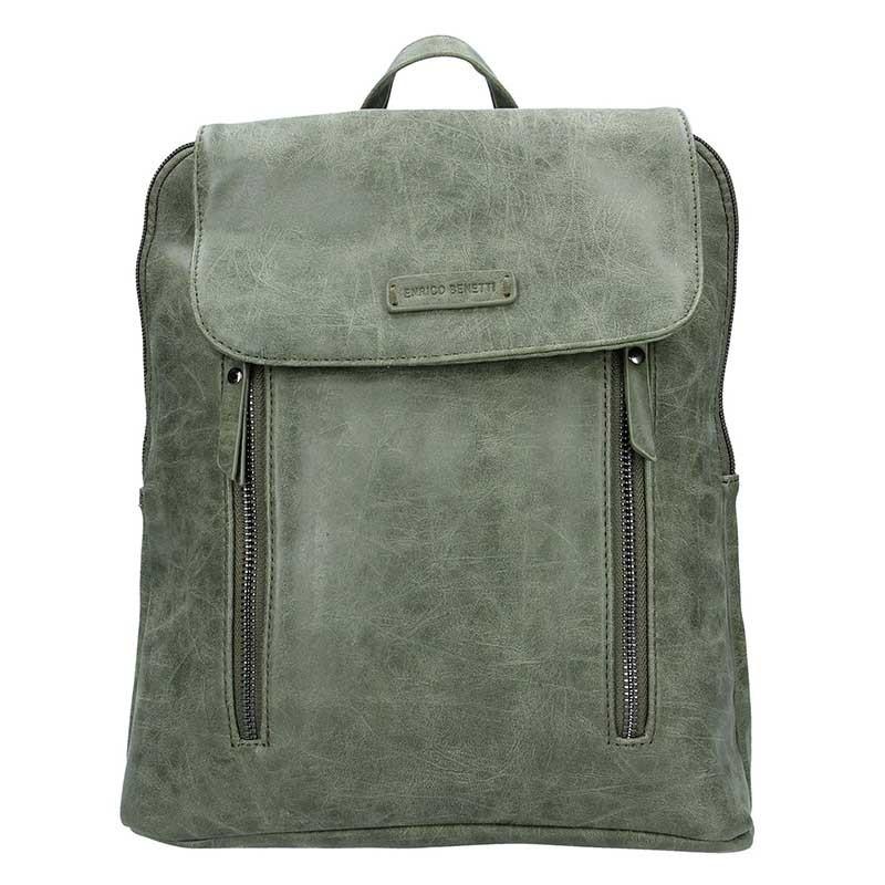 Moderní dámský batoh Enrico Benetti Tinna - olivová