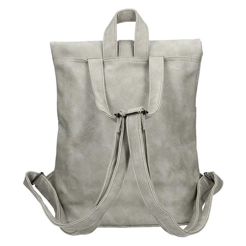 Moderní dámský batoh Enrico Benetti Gretta - světle šedá