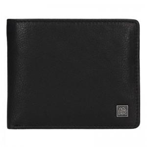 Kožená pánská peněženka Lerros Amos - černá