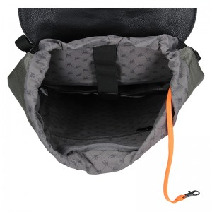Pánský vintage batoh Lerros Alfred - šedo-černá