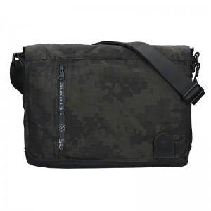 Pánská taška přes rameno Lerros Agrus - černo-zelená