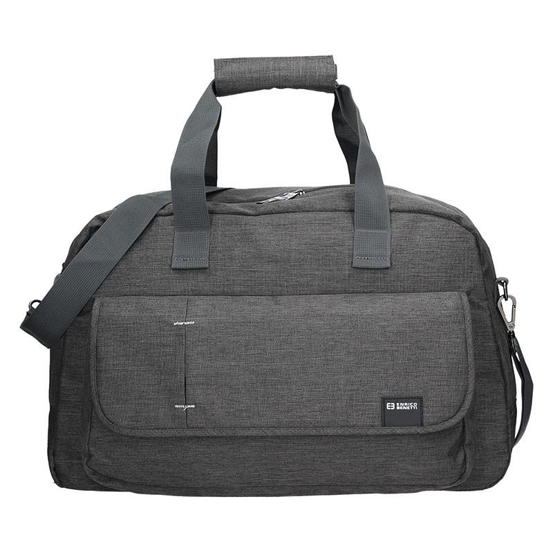 f9a6592666 Cestovní taška Enrico Benetti Luis - šedo-černá