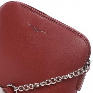 Dámská crossbody kabelka David Jones Gretta - červená