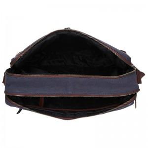 Pánská taška přes rameno Lagen Marlon - modro-hnědá