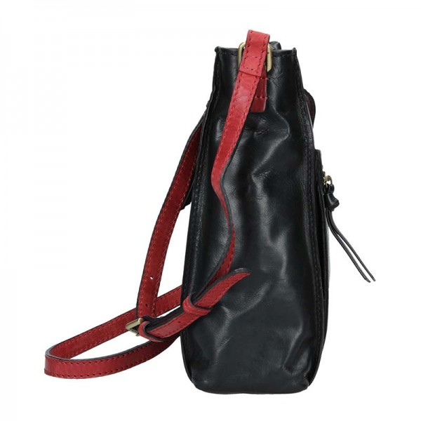 Dámská crosbody kabelka Lagen Paula - černo-červená