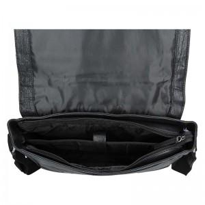 Pánská kožená taška přes rameno Lagen Brendon - černá