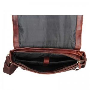 Pánská kožená taška přes rameno Lagen Brendon - hnědá