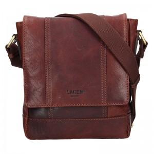 Pánská kožená taška přes rameno Lagen Memphis - hnědá