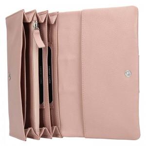 Dámská kožená peněženka Lagen Nicol - růžová