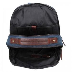 Pánský batoh Lagen Mosis - modro-hnědá