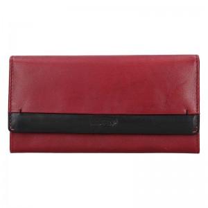 Dámská kožená peněženka Lagen Diona - červeno-černá