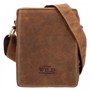 Pánská taška přes rameno Always Wild Tibor - světle hnědá