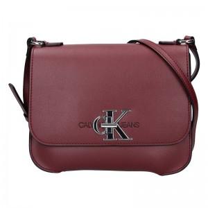 Dámská crossbody kabelka Calvin Klein Nikol - vínová