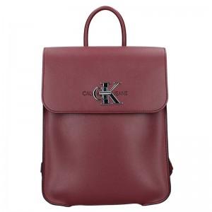 Dámský batoh Calvin Klein Jeans Lussy - vínová