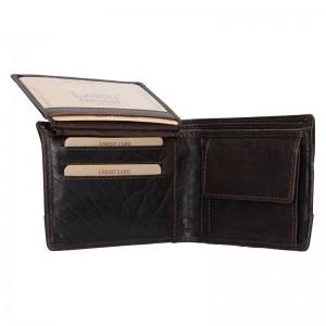 Pánská kožená peněženka Lagen Tex - tmavě hnědá