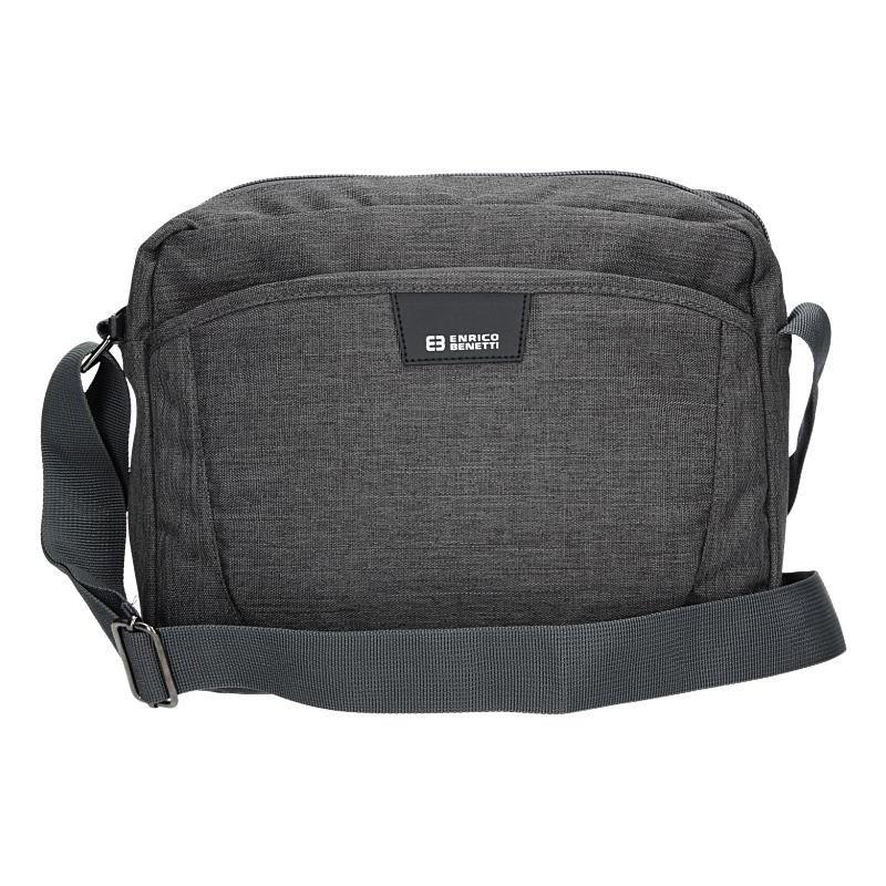 Pánská taška přes rameno Enrico Benetti Lukes - šedo-černá