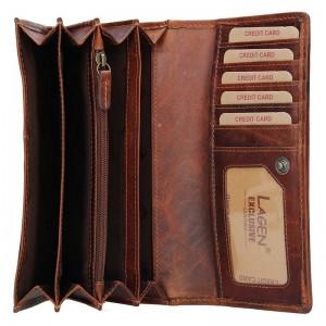Dámská kožená peněženka Lagen Inga - hnědá